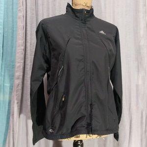 Adidas Black White Windbreaker Zip Jacket  FLAW